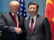 FILE PHOTO - U.S. President Donald Trump and Chinese President Xi Jinping (R) shake hands prior to a meeting on the sidelines of the G20 Summit in Hamburg, Germany, July 8, 2017.  REUTERS/Saul Loeb/ Pool/File Photo     TPX IMAGES OF THE DAY ORG XMIT: RKR100